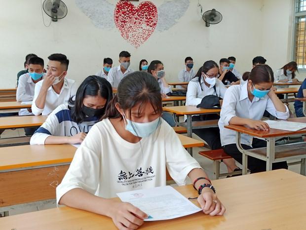Thí sinh dự thi Tốt nghiệp Trung học phổ thông 2020.