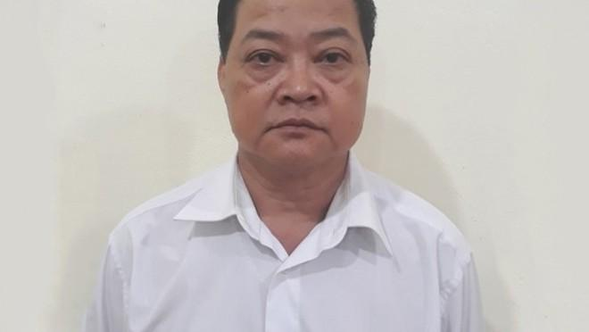 Ông Dương Xuân Kiểm tại cơ quan công an - Ảnh: Công an cung cấp