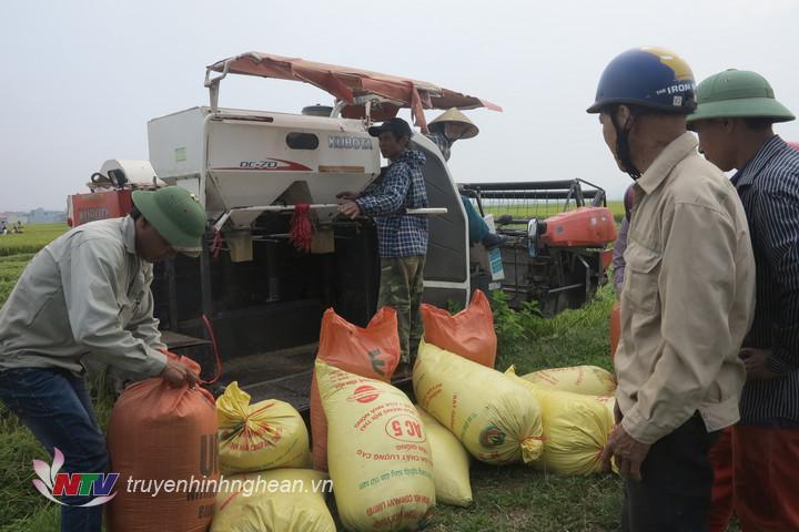 Nông dân Đô Lương đưa cơ giới hoá vào sản xuất.