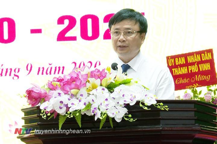 Phó Chủ tịch UBND tỉnh Bùi Đình Long phát biểu tại Đại hội.