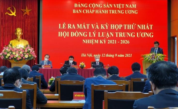 Lễ ra mắt và Kỳ họp thứ nhất Hội đồng lý luận Trung ương, nhiệm kỳ 2021 - 2026.