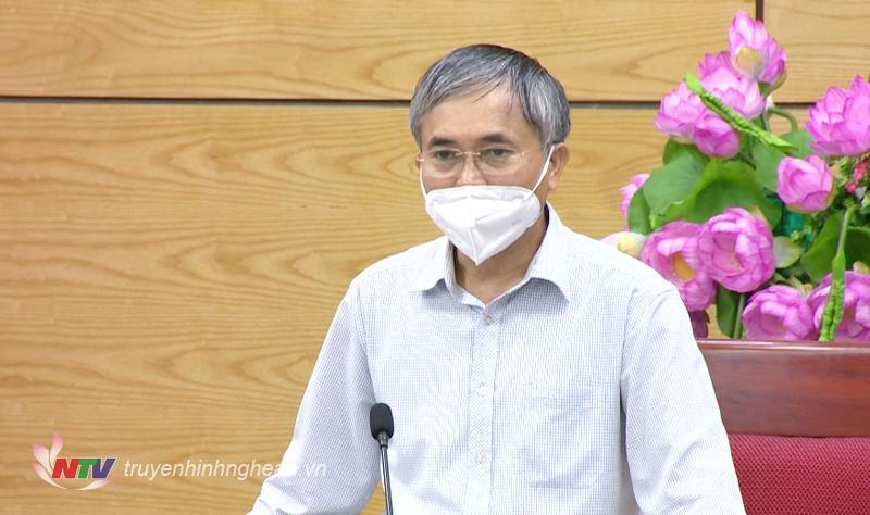 Phó Chủ tịch UBND tỉnh Lê Ngọc Hoa phát biểu kết luận cuộc họp.