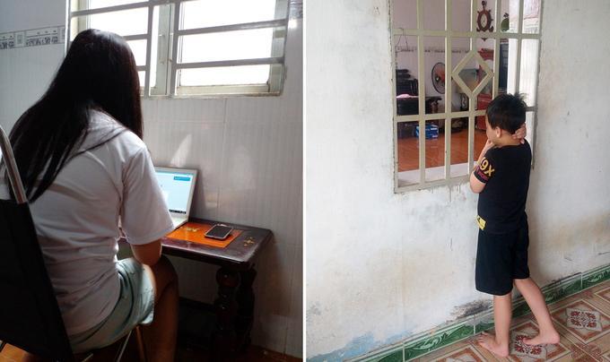 Hai chị em Khánh Như và Đăng Huy (quận 8, TP HCM) đang làm quen cuộc sống mới tại nhà ông bà ngoại ở Đồng Nai, sau khi bố, mẹ qua đời do nhiễm bệnh.