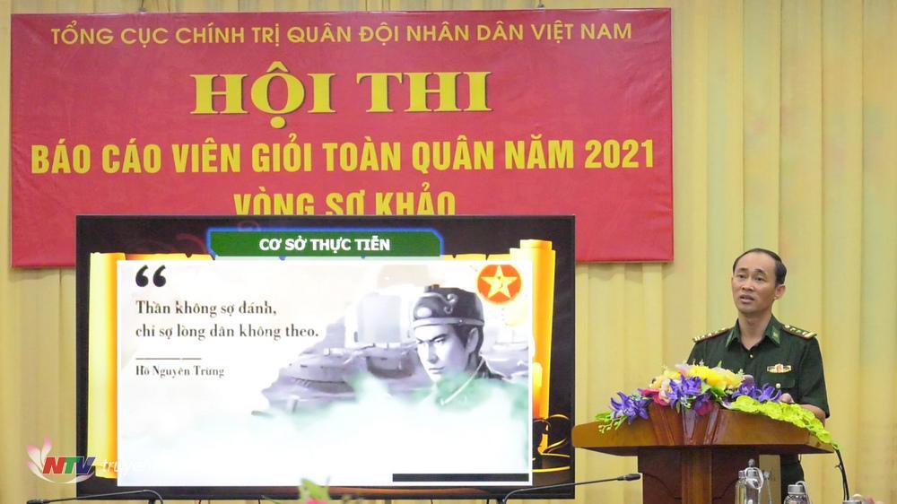 Thượng tá Trần Quang Trung tham gia thi
