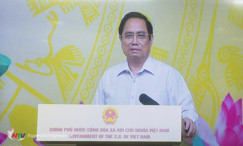 Thủ tướng Chính phủ Phạm Minh Chính phát biểu tại lễ phát động. Ảnh cắt màn hình.