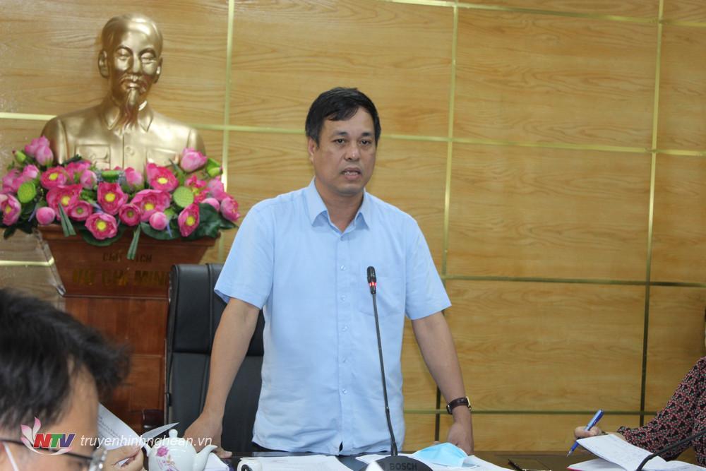 Chủ tịch UBND huyện Hoàng Văn Bộ phát biểu kết luận