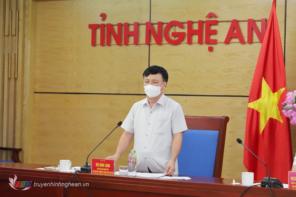 Phó Chủ tịch UBND tỉnh Bùi Đình Long phát biểu tại cuộc họp.
