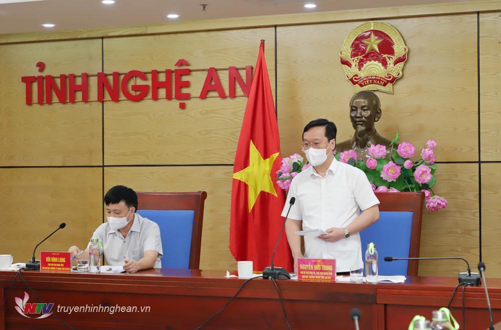 Chủ tịch UBND tỉnh Nguyễn Đức Trung phát biểu kết luận cuộc họp.