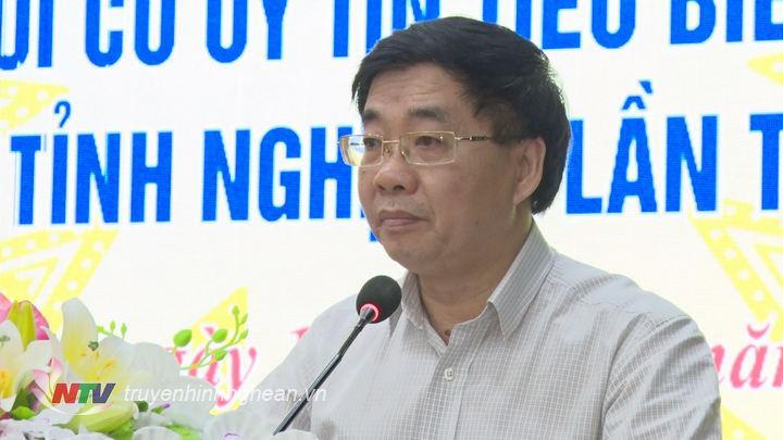 Phó Bí thư Tỉnh ủy Nguyễn Văn Thông phát biểu tại buổi lễ.