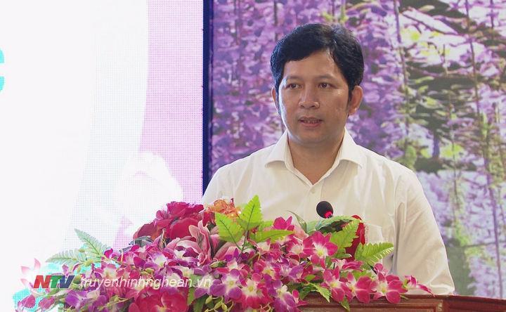 Phó Giám đốc Sở Du lịch Nghệ An Dương Hoàng Vũ phát biểu tại buổi lễ.