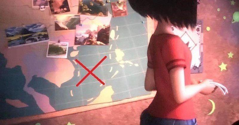"""Hình ảnh """"đường 9 đoạn"""" được cài cắm trong phim """"Everest - Người tuyết bé nhỏ"""" do DreamWorks Animation Studio (Mỹ) và Pearl Studio (Trung Quốc) đồng sản xuất."""