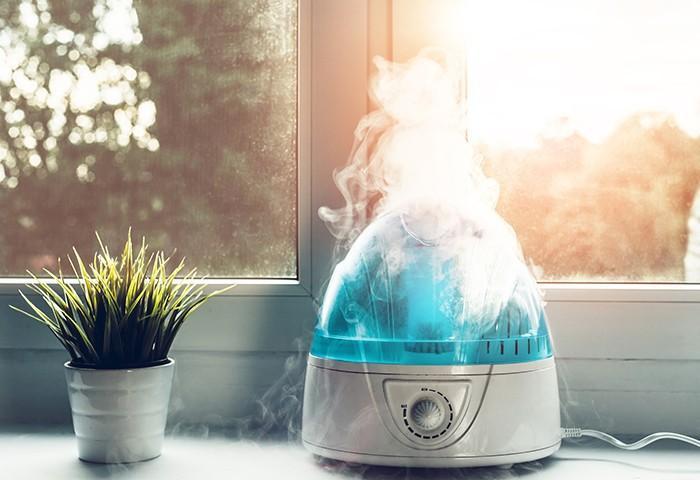 Sử dụng máy tạo độ ẩm để đảm bảo da của bạn sẽ được cấp ẩm đầy đủ. Nhưng hãy nhớ vệ sinh máy tạo độ ẩm 2-3 ngày/lần, nếu không chúng sẽ là môi trường lý tưởng cho các loại vi khuẩn.