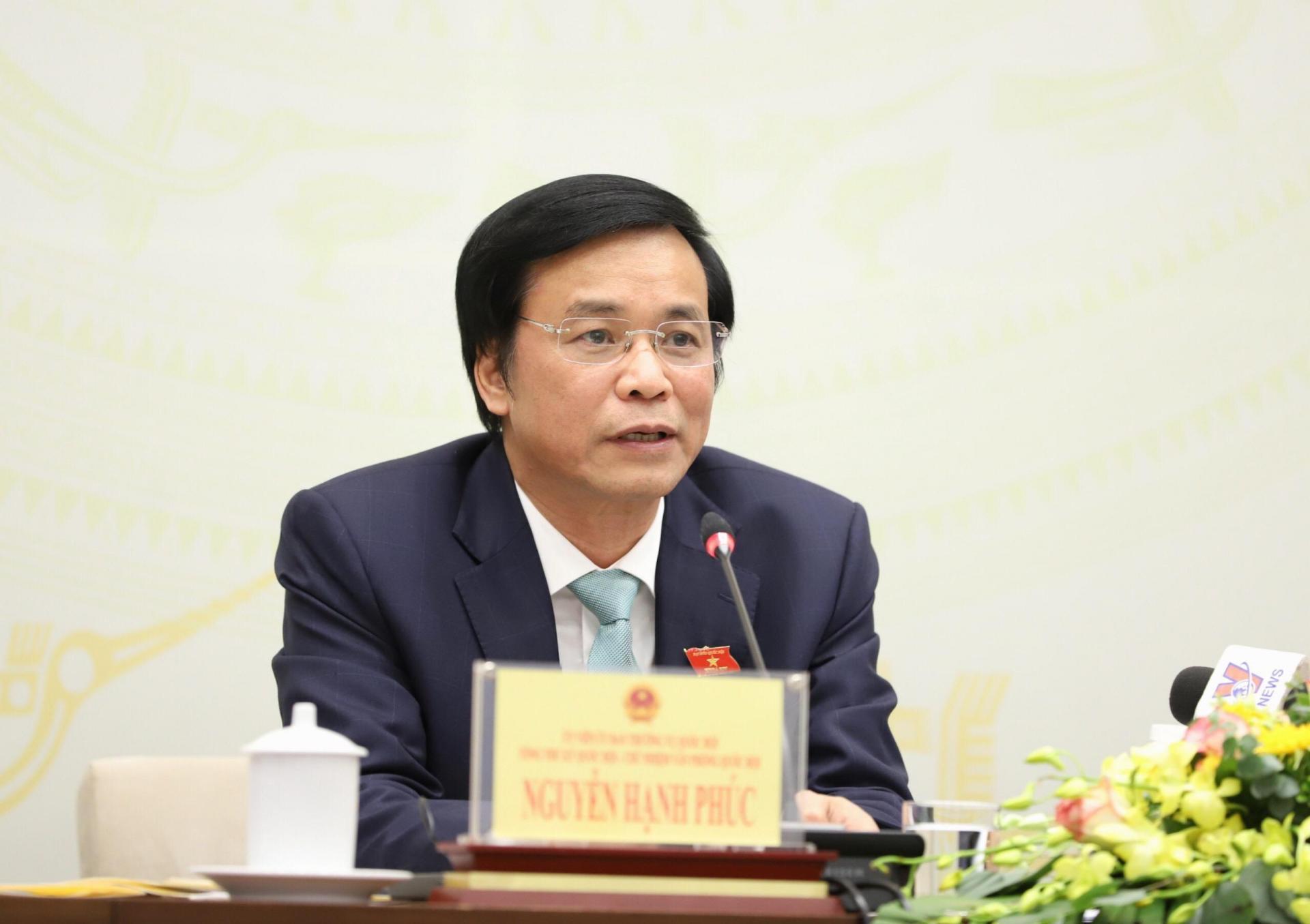 Tổng Thư ký Quốc hội, Chủ nhiệm Văn phòng Quốc hội Nguyễn Hạnh Phúc thông tin về dự kiến chương trình kỳ họp thứ 10, Quốc hội khóa XIV