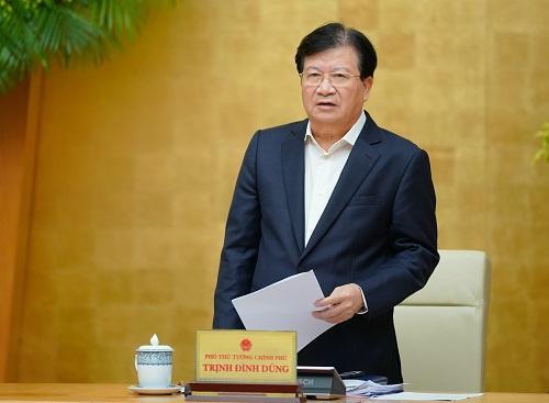Phó thủ tướng Trịnh Đình Dũng yêu cầu thực hiện 4 nhiệm vụ để khắc phục hậu quả thiên tai.