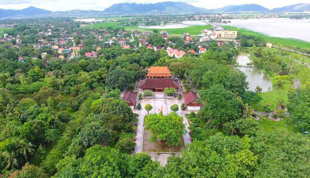 Huyện Nam Đàn nhìn từ trên cao.