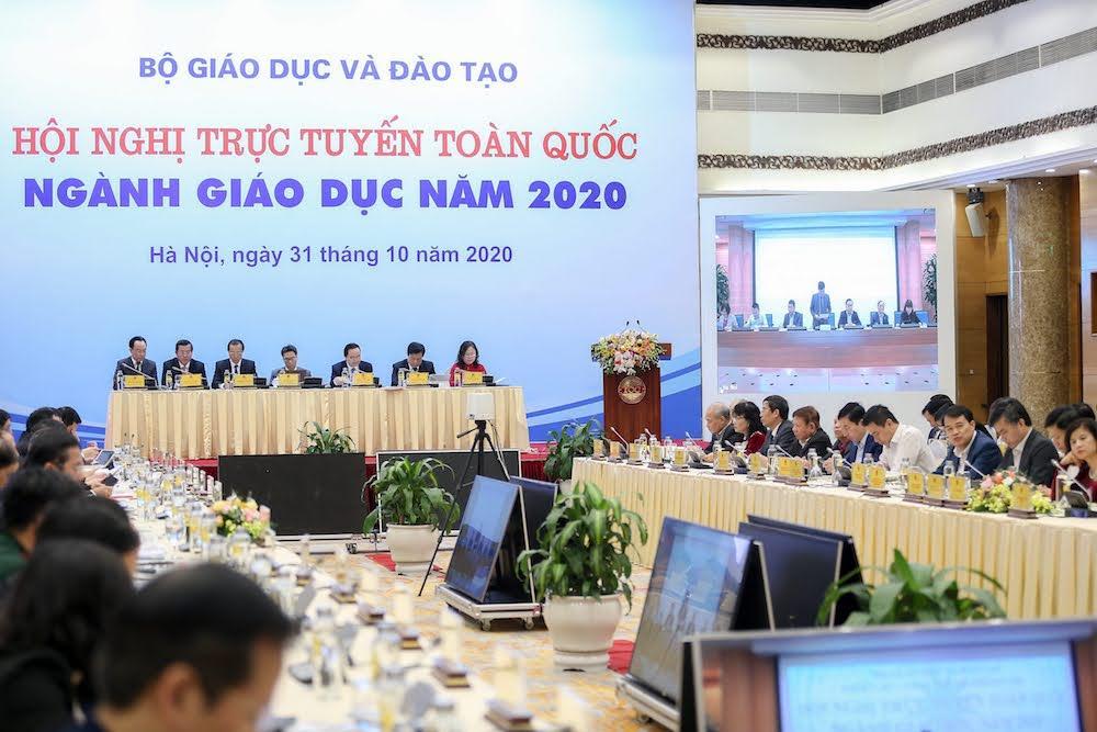 Hội nghị trực tuyến toàn quốc ngành giáo dục năm 2020.