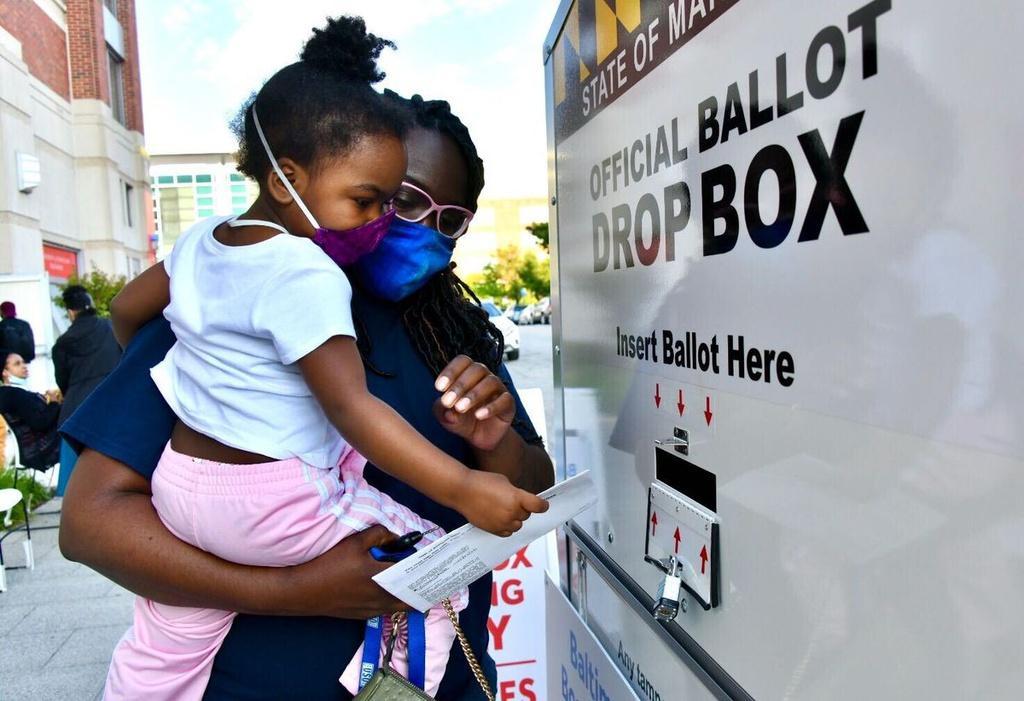 Một điểm bỏ phiếu sớm ở thành phố Baltimore. Ảnh: Baltimore Sun.