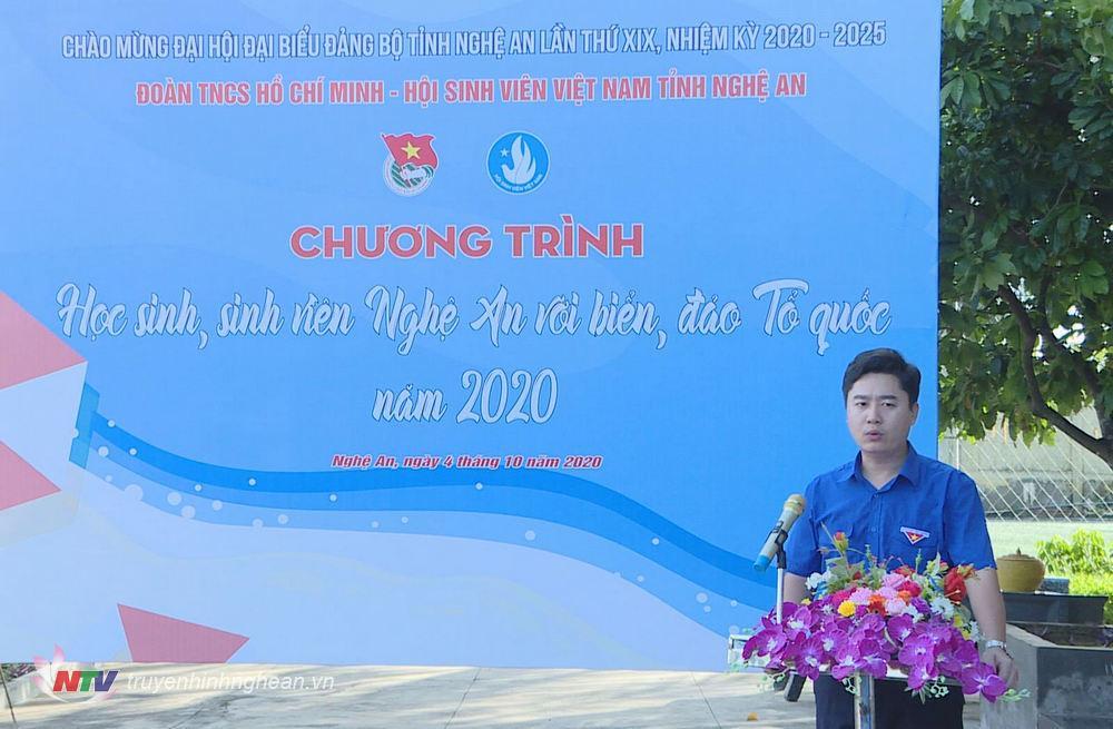 đ/c Lê Văn Lương - Phó Bí thư Tỉnh đoàn