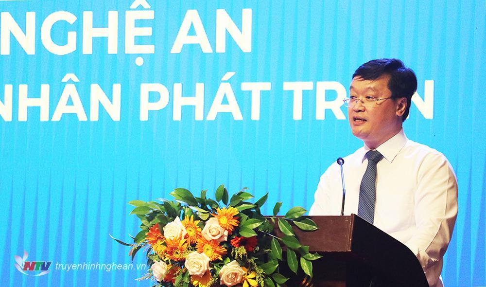 Chủ tịch UBND tỉnh Nguyễn Đức Trung khẳng định: Chính quyền sẽ đồng hành cùng doanh nghiệp để