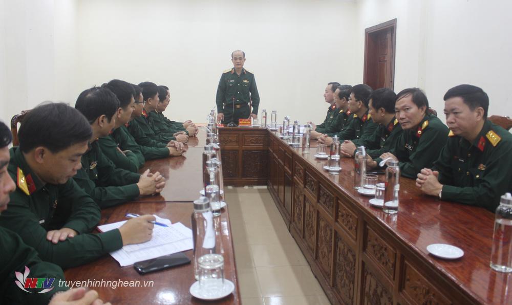 Thiếu tướng Nguyễn Hùng Thắng gửi lời chia buồn sâu sắc tới Đảng ủy, Bộ Tư lệnh, lực lượng vũ trang Quân khu 4; gia đình các liệt sĩ