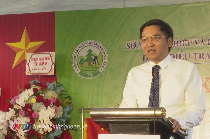 Phó Chủ tịch UBND tỉnh Hoàng Nghĩa Hiếu phát biểu tại lễ kỷ niệm.
