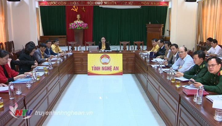 Điểm cầu tỉnh Nghệ An.