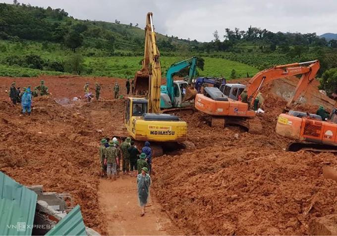 Hiện trường vụ lở núi vùi lấp 22 quân nhân Đoàn kinh tế quốc phòng 337.