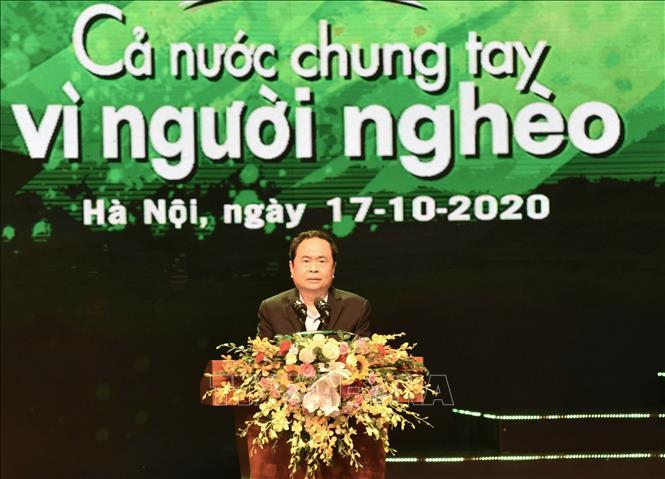 Chủ tịch Ủy ban Trung ương Mặt trận Tổ quốc Việt Nam Trần Thanh Mẫn phát biểu khai mạc chương trình.