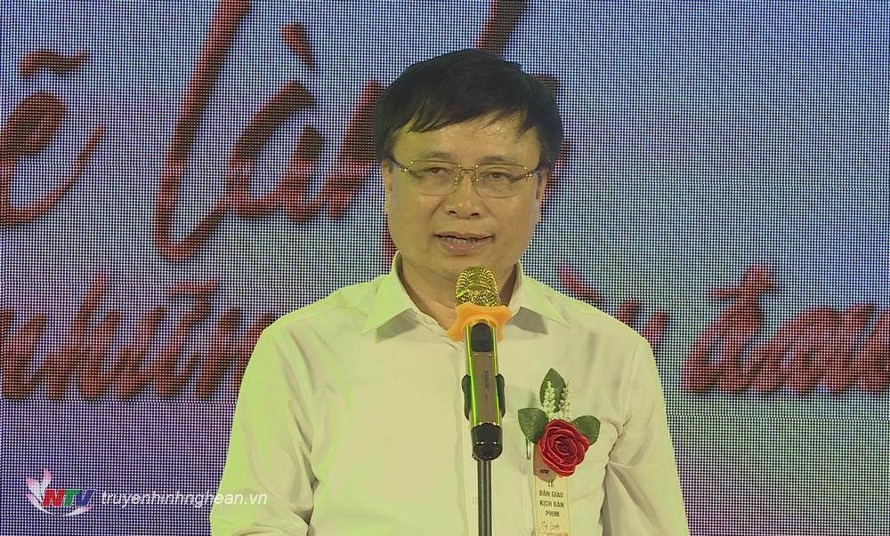 Phó Chủ tịch UBND tỉnh Bùi Đình Long phát biểu tại buổi lễ.