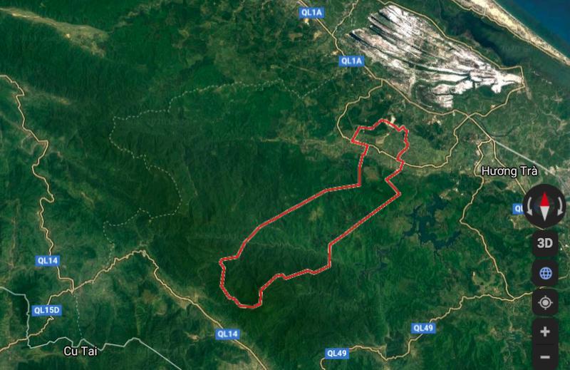 Vị trí đập thủy điện Rào Trăng 3 bị sạt lở (Ảnh plo.vn)