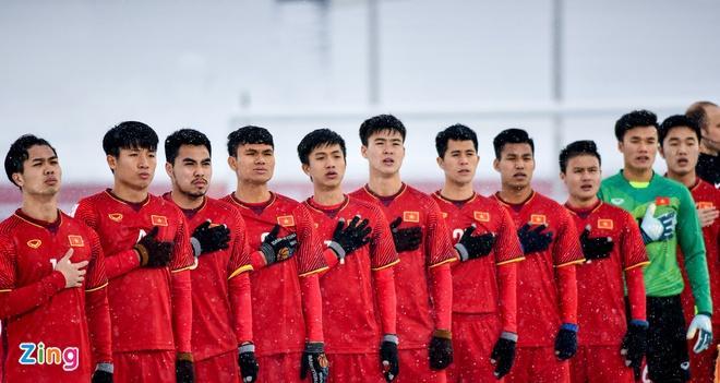 Đội hình U23 Việt Nam làm nên kỳ tích tại VCK U23 châu Á 2018 trên đất Trung Quốc.
