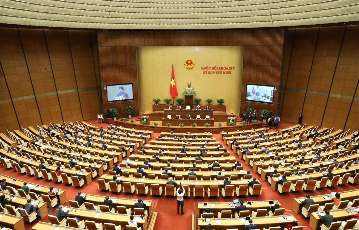 Toàn cảnh kỳ họp thứ 10 Quốc hội khóa XIV tại Hà Nội.