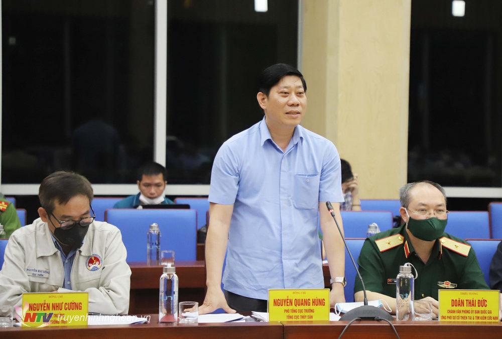 Đồng chí Nguyễn Quang Hùng - Phó Tổng cục trưởng Tổng cục Thủy sản phát biểu tại buổi làm việc.