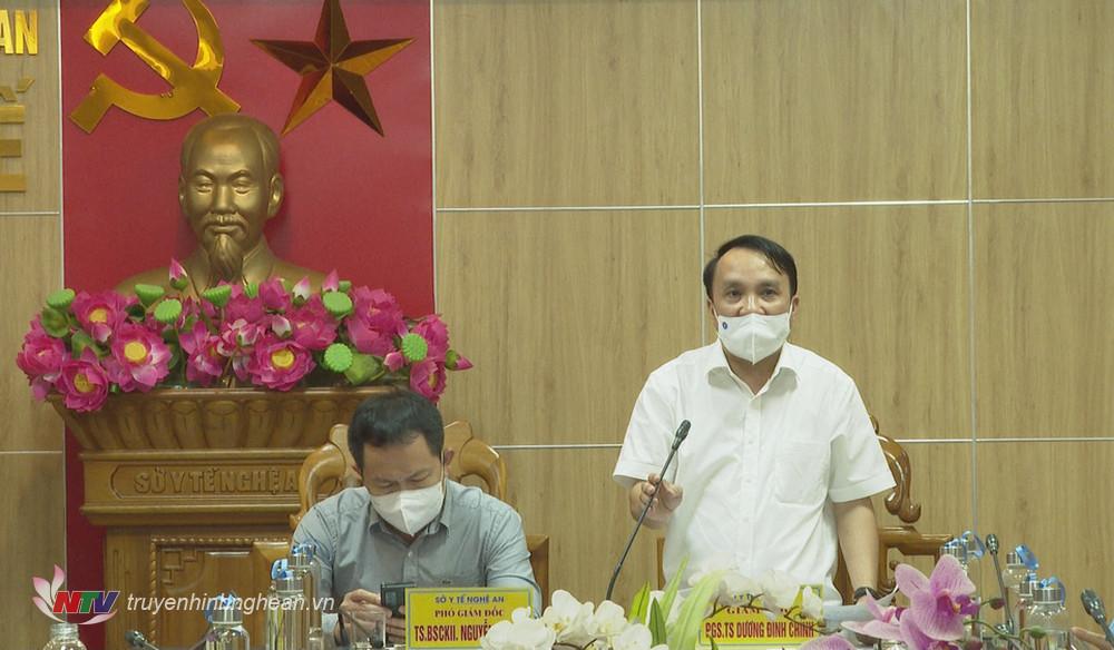 Giám đốc Sở Y tế Dương Đình Chỉnh phát biểu kết luận cuộc họp.