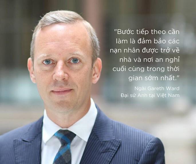 Đại sứ Anh gửi lời chia buồn tới gia đình các nạn nhân thiệt mạng ở Anh. Ảnh: UK in Vietnam