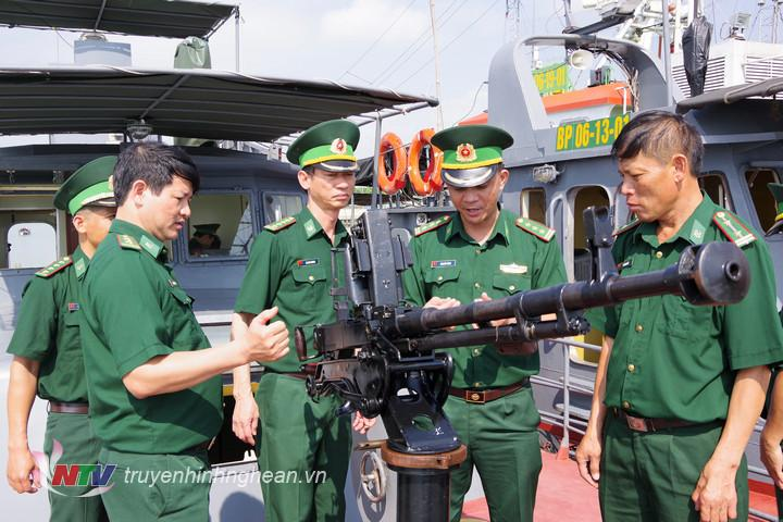 Vũ khí trang bị của BĐBP Nghệ An luôn đảm bảo sẵn sàng chiến đấu cao.