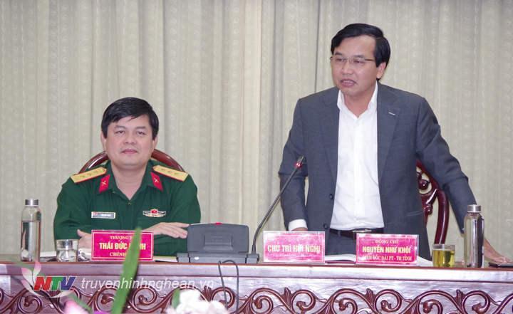 Đồng chí Nguyễn Như Khôi - Tỉnh ủy viên, Giám đốc Đài PT-TH Nghệ An phát biểu tại hội nghị.