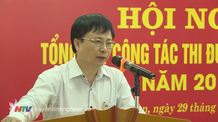 Phó Chủ tịch UBND tỉnh Bùi Đình Long phát biểu tại hội nghị.