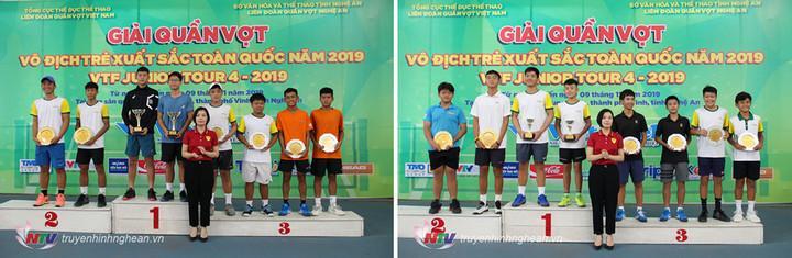 Trao giải nội dung Đôi nam U14, U18