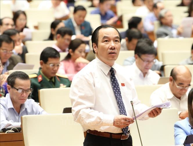Đại biểu Quốc hội tỉnh Bắc Giang Ngô Sách Thực phát biểu.