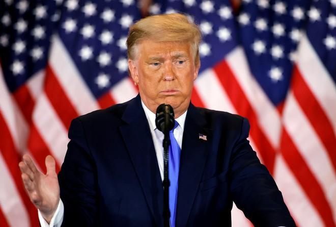 Tổng thống Trump phát biểu tại Nhà Trắng.