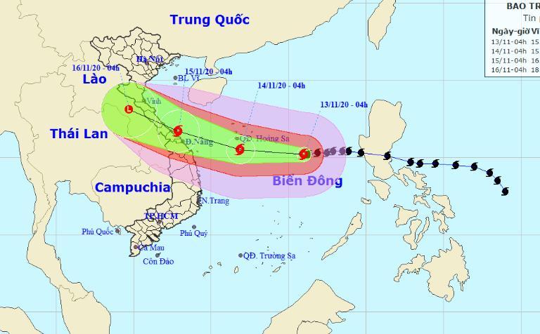 Toàn bộ tàu thuyền hoạt động trong vùng nguy hiểm đều có nguy cơ cao chịu tác động của gió giật mạnh.