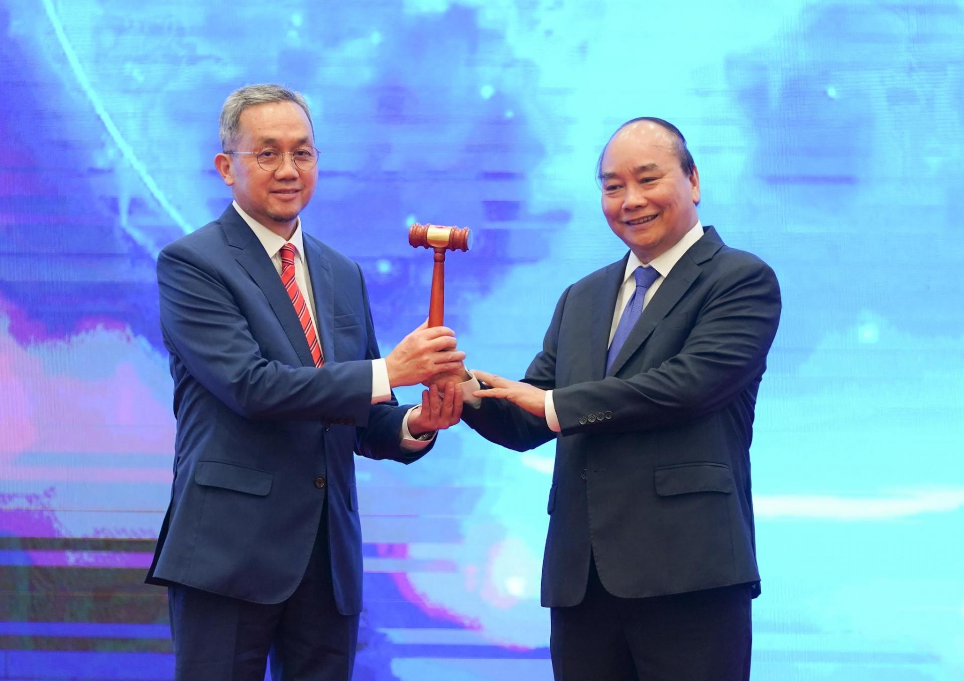 Lễ chuyển giao vai trò Chủ tịch ASEAN cho Brunei.