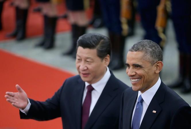 Ông Barak Obama và ông Tập Cận Bình khi ông Barak Obama thăm Trung Quốc tháng 11/2014