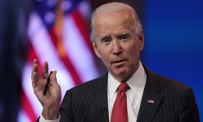 Biden trong cuộc họp báo tại Delaware hôm 19/11. Ảnh: AFP.