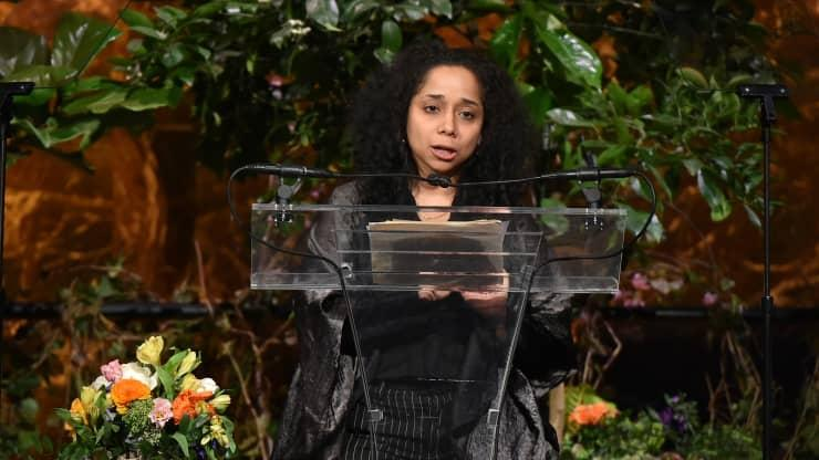 Đại sứ Mỹ tại Uruguay, Julissa Reyono phát biểu tại Diễn đàn Nữ quyền New York 24/4/2015 tại thành phố New York.