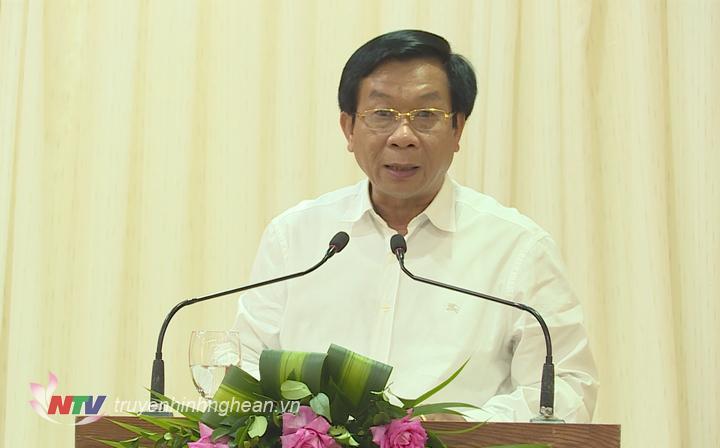 Trưởng Ban Tổ chức Tỉnh uỷ Lê Đức Cường phát biểu bế mạc hội nghị.
