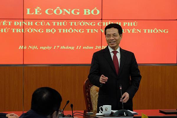 Bộ trưởng Nguyễn Mạnh Hùng: Tân Thứ trưởng Nguyễn Huy Dũng có nhiều khát vọng cống hiến