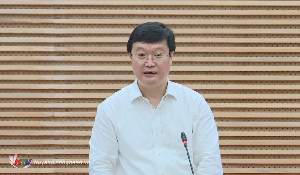 Chủ tịch UBND tỉnh Nguyễn Đức Trung nêu