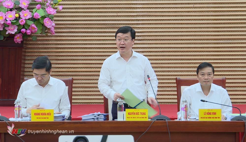 Chủ tịch UBND tỉnh Nguyễn Đức Trung phát biểu kết luận.
